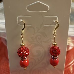 14k gold filled & glass beads earrings
